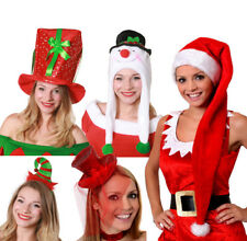 LADIES CHRISTMAS HATS 5 PACK WOMENS XMAS FANCY DRESS ACCESSORY OFFICE PARTY