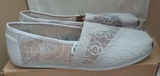 TOMS Classic Light Grey Lace Ladies Shoes