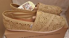 TOMS Classic Gold Metallic Crochet Ladies Shoes
