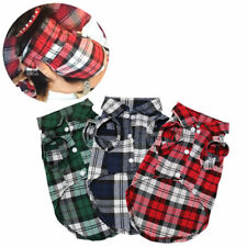 Plaid Dog Clothes Checked Dog Shirts for Small Medium Dogs Pet Clothing Yorkies.