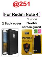 For Xiaomi Redmi Note 4 Luxury Hybrid Brushed Soft TPU Rubber Skin Back Cover