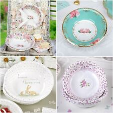 Vintage Rose Party Tableware Shabby Chic Afternoon Tea Buffet Wedding Garden Set