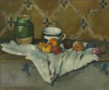 """Paul Cezanne : """"Still Life with Jar, Cup and Apples"""" (c.1877) — Fine Art Print"""