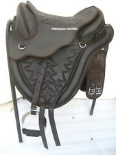 Quality cow softy leather all purpose treeless saddle brown + accessories