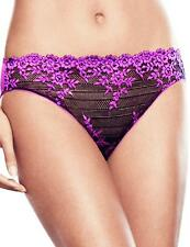 Wacoal Embrace Lace Hi Cut Brief Knickers 841191 Coffee Bean/Purple Cactus Flowe