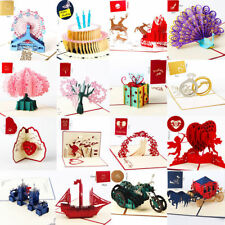 3D Pop Up Cards Valentine Lover Happy Birthday Anniversary Greeting Cards 2019
