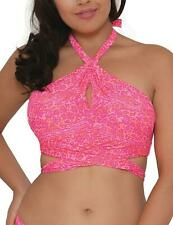 Curvy Kate Daze Cross Over Bikini Top Pink Mix CS3941 Curvy Kate Swimwear