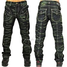 "Peviani barra G Jeans,Hip Hop Time Is Money urban uomo,"" star-rock "" Jeans Verde"