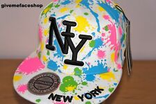 NY Spritzer enganliegende Kappe, Farbe Bling Flache Schirmmütze, HipHop,
