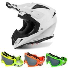 AIROH AVIATOR 2.2 COLOR Motocross Helm 2018 - weiss gloss + MX-Bude MX-2 Brille