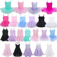 Girls Gymnastics Dancing Dress Kids Ballet Tutu Dancewear Leotard Skirt Costumes