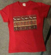 T Shirt Girly Shirt Damen Corroboree rot Aborigines Malerei Australien