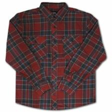 Brixton Bowery Flannel L/S Shirt Burgundy