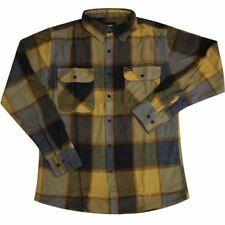 Brixton Bowery Flannel L/S Shirt Yellow Charcoal