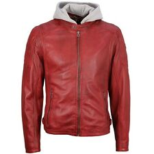 Gipsy Giacca in pelle uomo biker pelle giacca rossa rylo m0007918 Dered