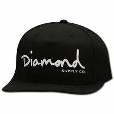 293a531200a Diamond Supply Co OG Script Snapback Black White