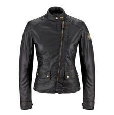 Belstaff Bradshaw Ladies Wax Cotton Motorcycle Jacket - Black