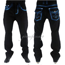 Echt peviani Herren Jeans, Urban Denim Bar Star Time Is Money Hip Hop Rock Hose