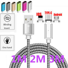 FORSEA Magnetic Micro USB/Type C /IOS Fast Charging Charger Data Sync Cable Cord
