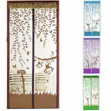 Hands-Free Home  Mesh Screen Net Magnetic Anti Mosquito Bug Door Curtain HT