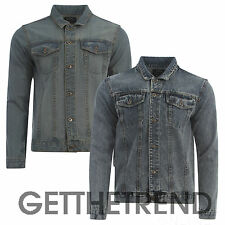 Mens Branded Designer Denim Jacket mens Button Up Collar Denim Jackets S M L XL
