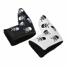 White/Black Skeleton PU Golf Club Putter Cover Headcover Protector Accessories