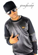 Time Is Money G Similpelle PU Felpa club-star MAGLIONE HIP HOP, 3xl-6xl