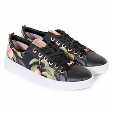Ted Baker Women's Ahfira Textile Lace Up Trainer Peach Blossom Black