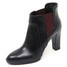 B8343 tronchetto donna TOD'S T95 scarpa nero/bordeaux boot shoe woman