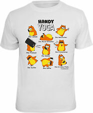 Fun T-SHIRT hamster mobile Yoga smartphone chemise cadeau impression Cool