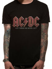 AC/DC T-SHIRT LET THERE BE ROCK VINTAGE SCHWARZ GRÖSSE M,L,XL,XXL NEU