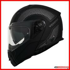 Casco Moto Scooter Modulare Vemar Sharki Nero Hive Grey Apribile