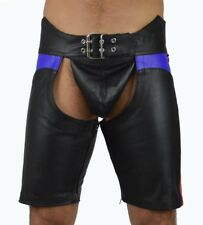 778 lederchaps Blauen Absatz lederhose,leather trousers,leather chaps,Kurze Hose