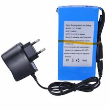 Batterie Rechargeable Li-ion DC12V 6800/9800mAh + Chargeur Battery Lithium