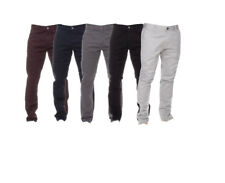 Mens Chinos Jeans Designer Trousers  Stretch Skinny Slim Fit Jeans Brand New