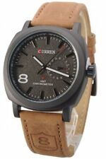 Curren 8139 Analogue Black Dial Leather Band Men Watch