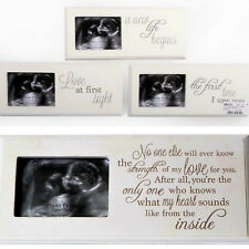 Ultrasound Baby Scan Picture Photo Frame Wooden Sentiment Keepsake Boy Girl GIFT