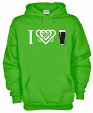 Felpa KJ685 I Love Guinness Beer Pinta Hoodie Cappuccio Irish Birra Party