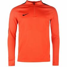 Nike Squad Drill Training Sweatshirt Mens Orange Football Soccer Sweater Top