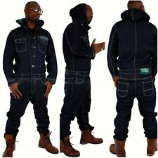 Brooklyn Mint Overall, Denim Latzhose Urban Hip Hop Jeans Time Is Money Herren