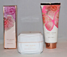 NEW SET TED BAKER BUTTERFLY FLORAL BODY WASH SHIMMER SOUFFLE POT HAND CREAM