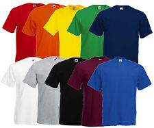 FRUIT OF THE LOOM T-shirt pour hommes Valueweight CHEMISE DIVERS COULEURS S -
