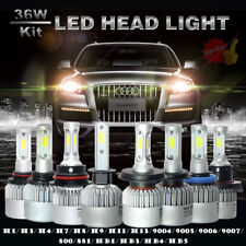 2x 72W LAMPE LED PHARE VOITURE FEUX XENON BLANC HEADLIGHT REPLACE BULBS 20000LM