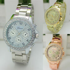 Fashion Women's Stainless Steel Bracelet Crystal Dial Analog Quartz Wrist Watch