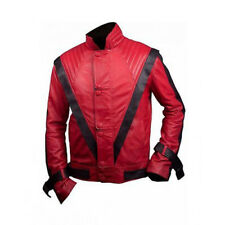 Michael Jackson Dancing Thriller Red Rock Star Leather Jacket For Dance Shows