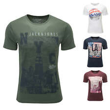 Jack & Jones Herren T-Shirt Kurzarmshirt O-Neck Print Shirt Color Mix NEU