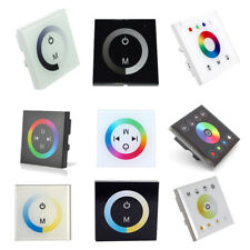 Acrylic Touch Panel LED Controller Dimmer Wall Switch for Single/RGB/RGBW Light