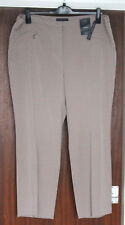 """M&S Collection Size 22 Medium Two Way Stretch Slim Leg Trousers Bnwt Fawn 29""""L"""