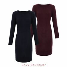 Brave Soul Womens Ladies Knit Ribbed Jumper Knitted Bodycon Dress