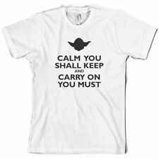 Calm You Shall mantenerse AND CARRY ON Esencial-Camiseta